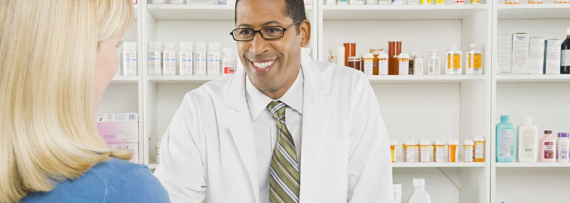 pharmacist and the woman